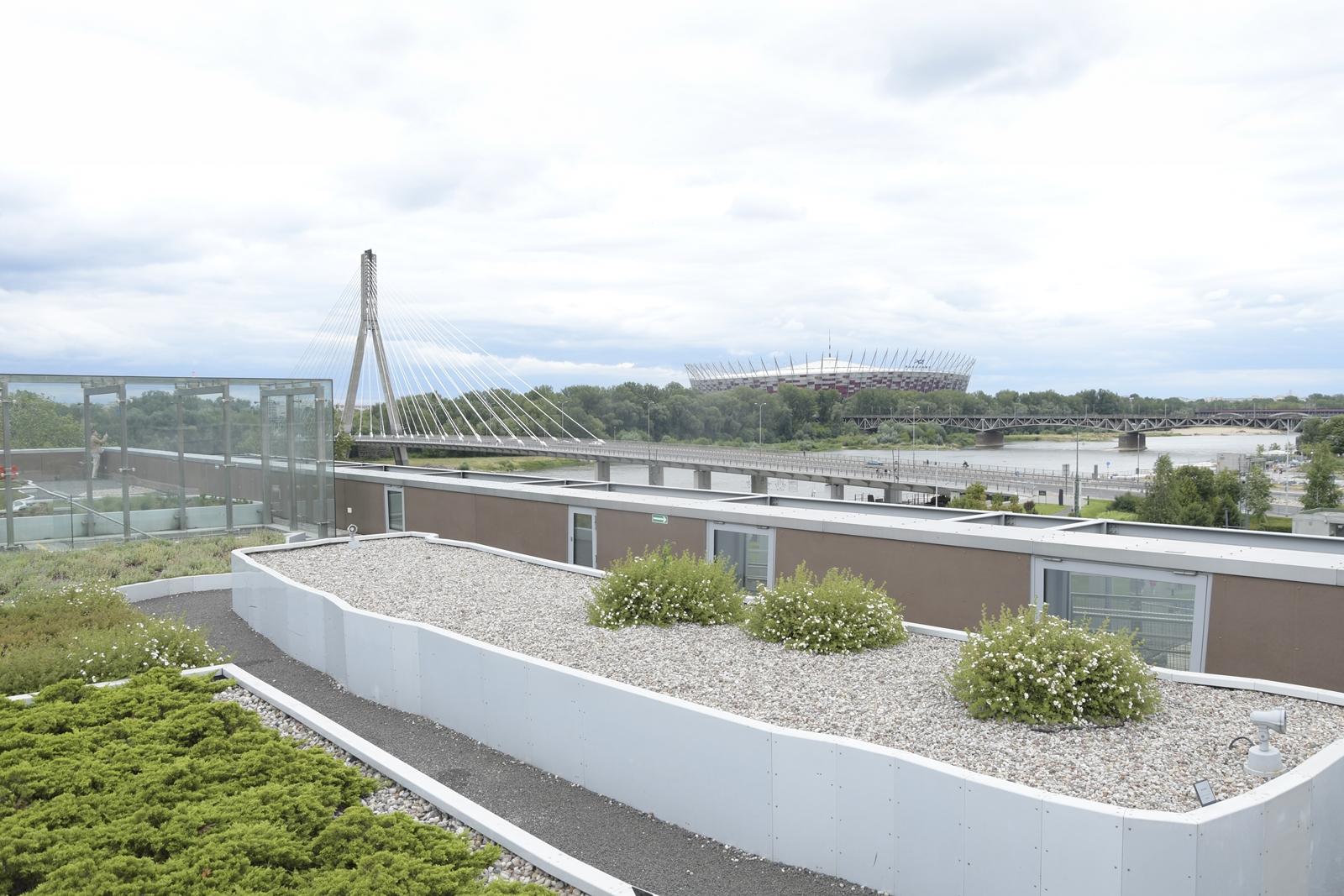 ogród na dachu centrum nauki kopernik