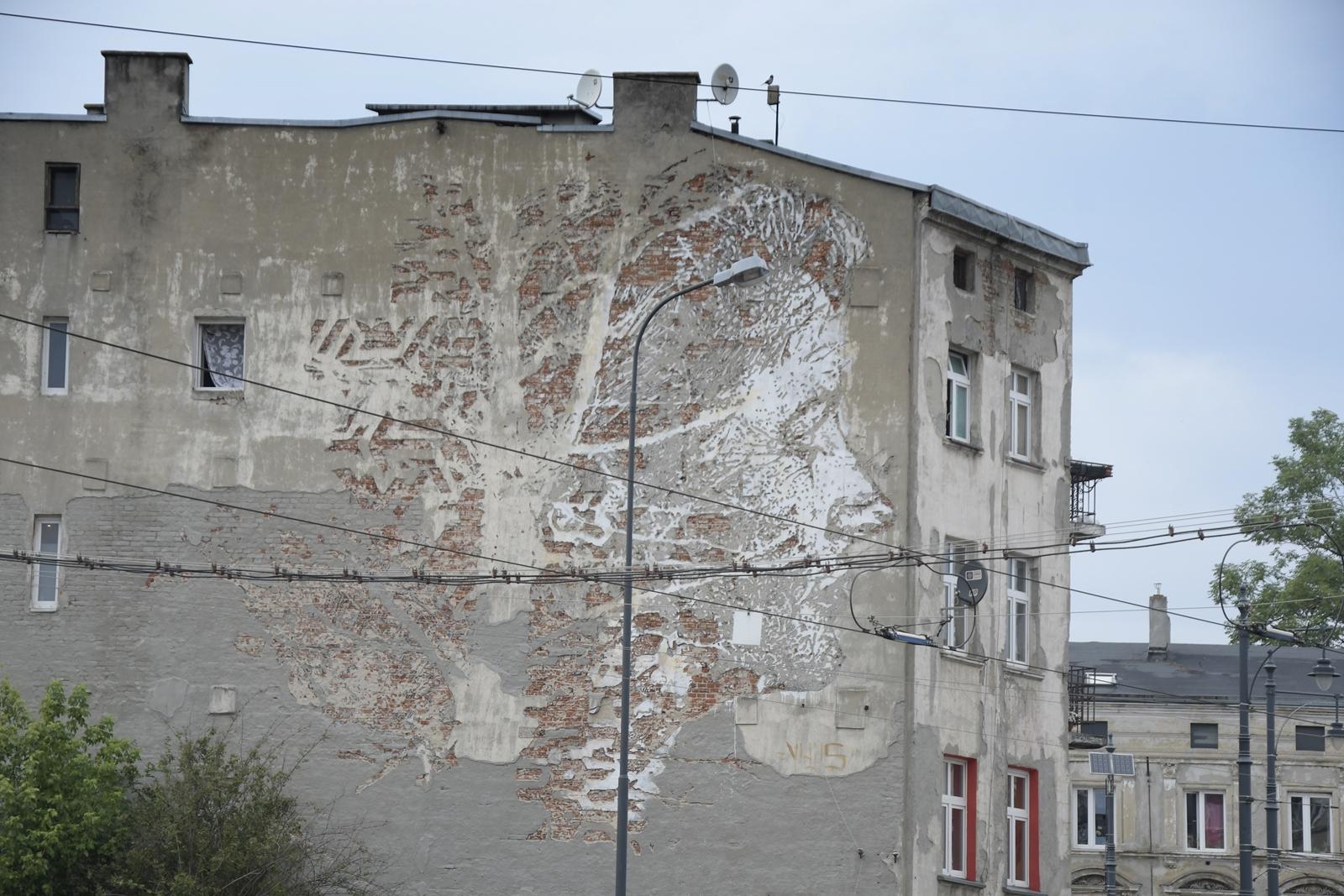 murale w łodzi