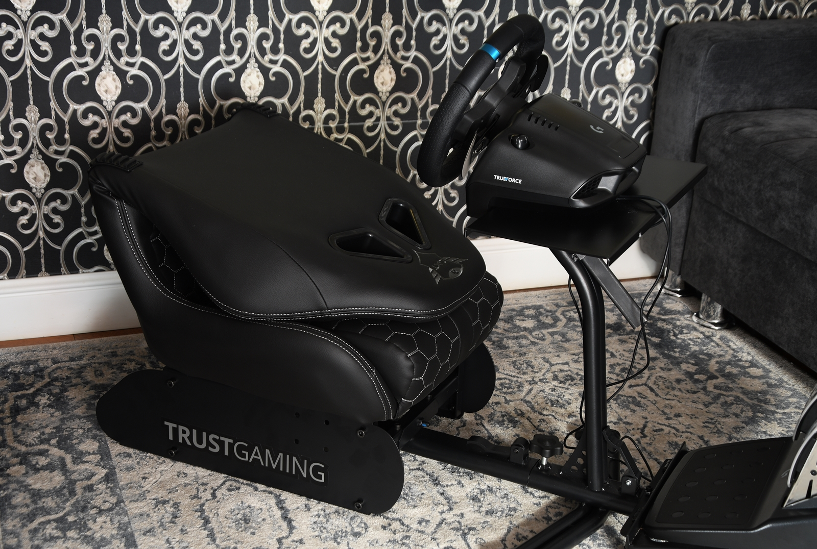trust gxt 1155 rally racing simulator seat