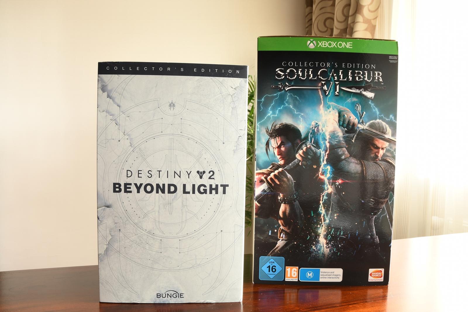 edycje kolekcjonerskie soulcalibur vi i destiny 2 poza światłem